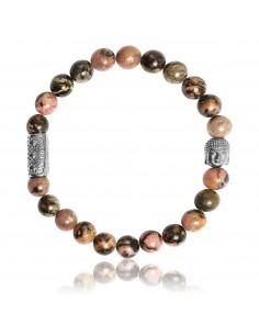 Bracelet Rhodonite et Bouddha