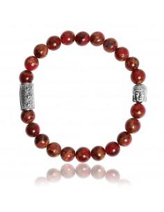 Bracelet Jaspe Rouge et Bouddha