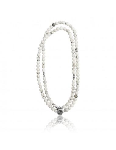Bracelet multi-tours / collier Mary Steven Howite blanc