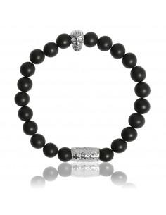 Bracelet Onyx Noir Mat et...