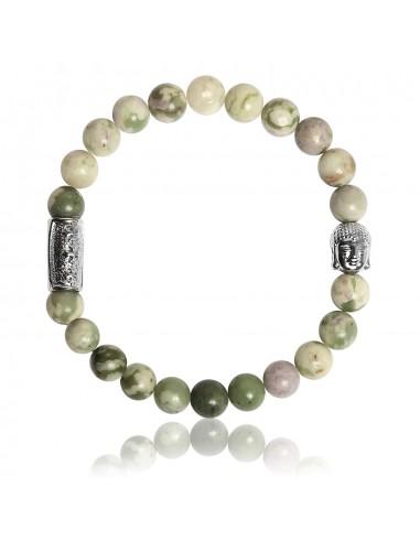 Bracelet Jade de la Paix et Bouddha