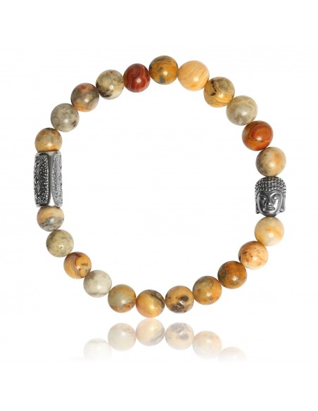 Bracelet Crazy Stone et Bouddha