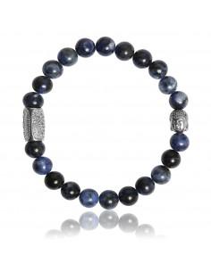 Bracelet Sodalite Africaine et Bouddha