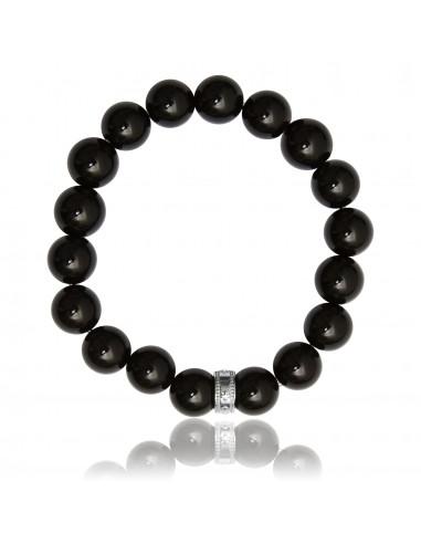 Bracelet 12 mm Agathe Noire