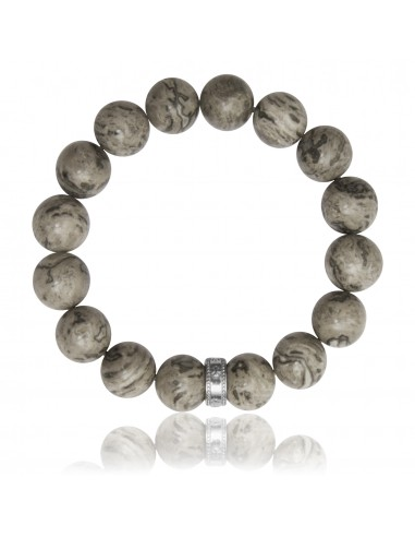 Bracelet 12 mm Map Stone