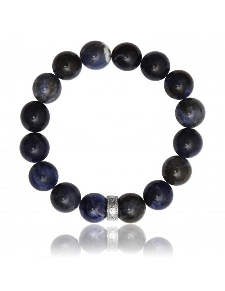 Bracelet 12 mm Sodalite Africaine