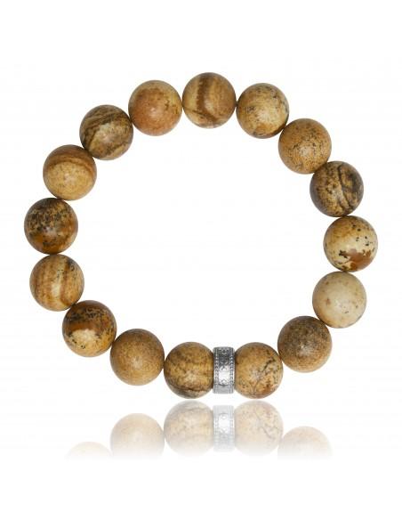 Bracelet 12 mm Jaspe Gravure