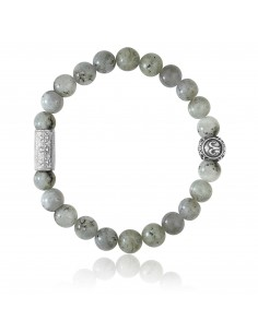 Bracelet Labradorite / signe astrologique poisson / 8mm