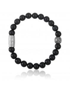 Bracelet agate noire / signe scorpion / 8mm