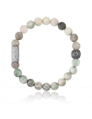 Bracelet Jade de la paix / signe balance / 8mm