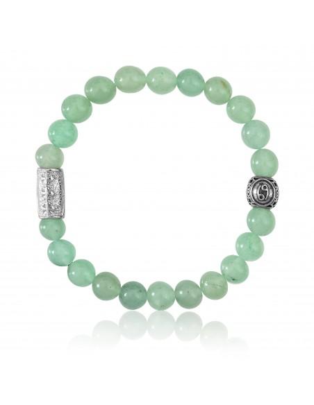 Bracelet Aventurine / signe cancer / 8mm