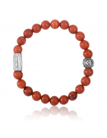 Bracelet Jaspe rouge / signe bélier / 8mm