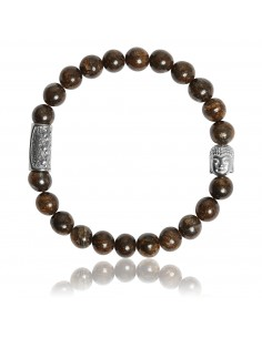 Bracelet Bronzite et Bouddha